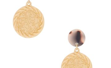 "Go to Product: Gold 1.5"" Coin Drop Earrings"