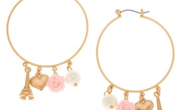 Go to Product: Gold 40MM Romantic Charm Hoop Earrings