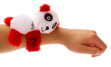 Go to Product: #Lovable Huggable® I Love You Panda Slap Bracelet - Red