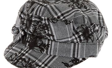 Go to Product: Glen Plaid Floral Captain Hat - Black