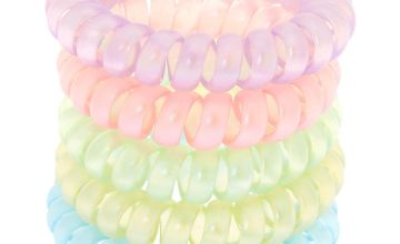 Go to Product: Claire's Club Frosted Spiral Hair Bobbles - 5 Pack