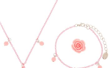 Go to Product: Claire's Club Rose Jewellery Set - Pink