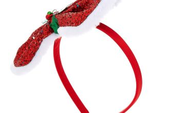 Go to Product: Glitter Holly Bow Headband - Red