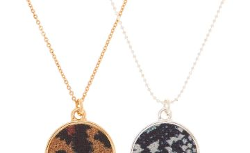 Go to Product: Mixed Metal Animal Print Pendant Necklaces - 2 Pack