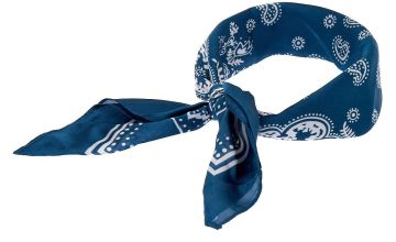 Go to Product: Paisley Satin Bandana Headwrap - Blue