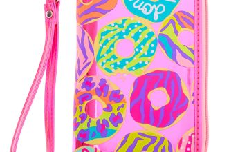 Go to Product: Neon Animal Donut Print Wristlet - Pink