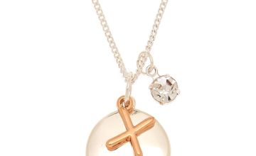 Go to Product: Mixed Metal Initial Charm Pendant Necklace - X