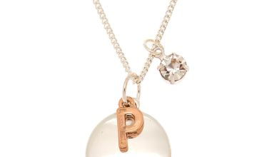 Go to Product: Initial Charm Pendant Necklace - P