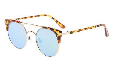 Go to Product: Round Aviator Tortoiseshell Sunglasses - Brown