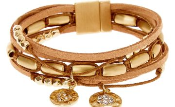 Go to Product: Gold Boho Chic Wrap Bracelet - Brown