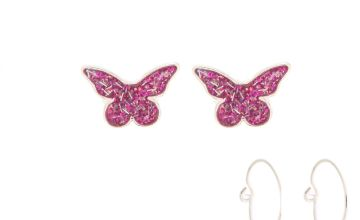 Go to Product: Spring Mixed Earrings - Pink, 3 Pack