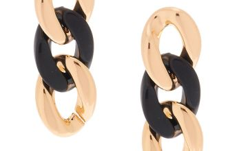 Go to Product: Gold and Black Chain Drop Earrings