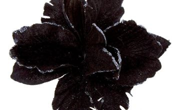 Go to Product: Velvet Glitter Flower Hair Clip - Black