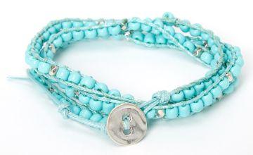 Go to Product: Beaded Wrap Bracelet - Turquoise