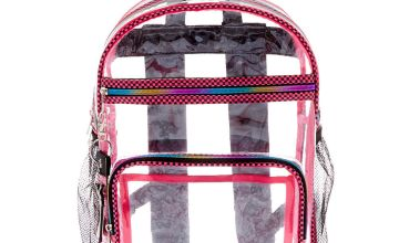 Go to Product: Checkered Trim Backpack - Clear