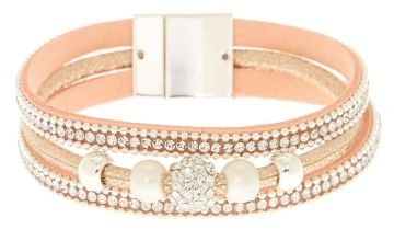 Go to Product: Embellished Fireball Wrap Bracelet - Pink