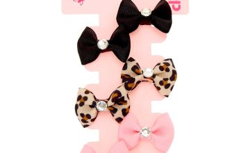 Go to Product: Claire's Club Gem Hair Bow Clips - 6 Pack