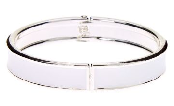 Go to Product: Silver Hinge Cuff Bracelet - White