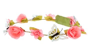 Go to Product: Light Up Butterfly Flower Crown Headwrap - Hot Pink
