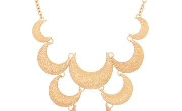 Go to Product: Gold Crescent Moon Statement Necklace