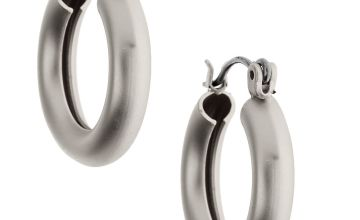 Go to Product: Silver 20MM Matte Tube Hoop Earrings