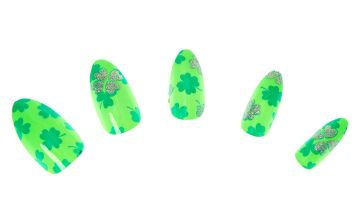 Go to Product: Shamrock Stiletto Press On Faux Nails - Green, 24 Pack