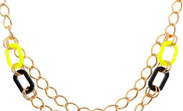 Go to Product: Gold Chain Statement Necklace - Neon Yellow