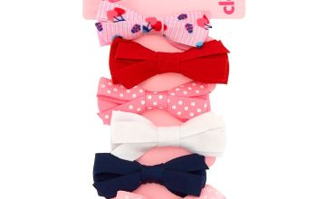 Go to Product: Claire's Club Pattern Bow Hair Clips - 6 Pack