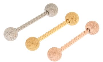 Go to Product: Mixed Metal 14G Twisted Barbell Tongue Rings - 3 Pack
