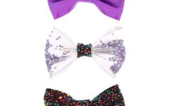 Go to Product: Holographic Glitter Bow Hair Clips - Purple, 3 Pack