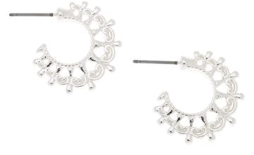 Go to Product: Silver 20MM Ornate Hoop Earrings