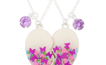 Go to Product: Best Friends Butterfly Confetti Pendant Necklaces - Purple, 2 Pack
