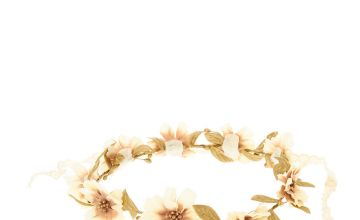 Go to Product: Gold Crochet Floral Head crown