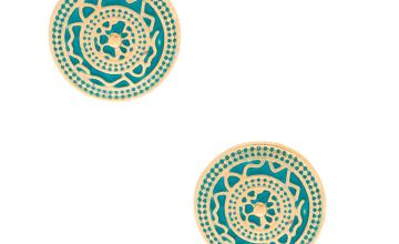 Go to Product: Gold Circle Stud Earrings - Teal