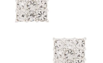 Go to Product: Silver Rhinestone Square Stud Earrings