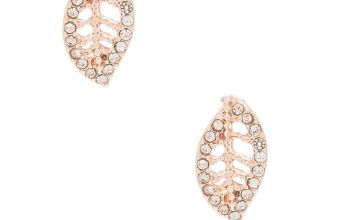 Go to Product: Rose Gold Crystal Leaf Stud Earrings