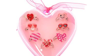 Go to Product: Heart Emoji Ring Set - Pink, 7 Pack