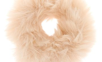 Go to Product: Medium Faux Fur Hair Scrunchie - Ivory