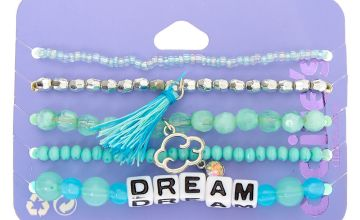 Go to Product: Dream Beaded Stretch Bracelets - Mint, 5 Pack