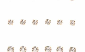 Go to Product: Gold Graduated Crystal Stud Earrings - 9 Pack