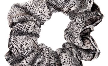 Go to Product: Medium Velvet Snakeskin Hair Scrunchie - Grey