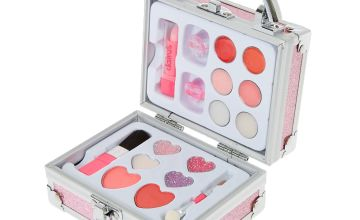 Go to Product: Claire's Club Glitter Lock Box Makeup Set - Pink