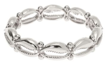 Go to Product: Silver Cowrie Shell Stretch Bracelet