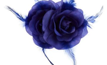 Go to Product: Double Rose Hair Flower Clip - Royal Blue