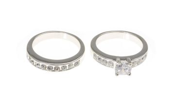Go to Product: Silver Embellished Classic Cubic Zirconia Rings - 2 Pack
