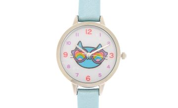 Go to Product: Cam the Cat Classic Watch - Blue
