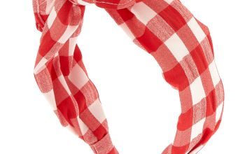 Go to Product: Gingham Knot Bow Headband - Red