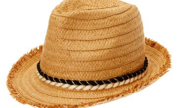 Go to Product: Frayed Straw Fedora Hat