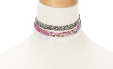 Go to Product: Embellished Choker Necklaces - 3 Pack