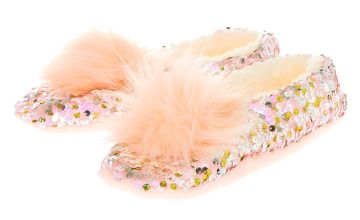 Go to Product: Reversible Sequin Slippers - Pink